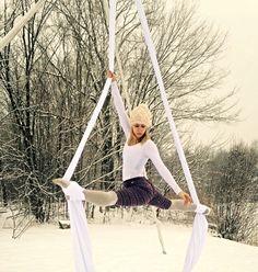aerial silks snowga winter aerial yoga