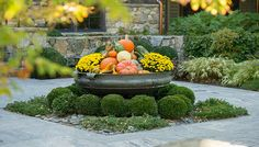 Beautify your landscape with gorgeous fall decor   Photo courtesy of The LaurelRock Company, Wilton, CT