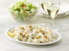 Great Perogy Caesar- i would make some with an alfredo sauce, too...