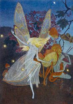 Dorothy Lathrop - Illustration for Walter de la mare's book of fairy poems. Down-ADown-Derry. Art And Illustration, Illustrations, Fantasy Kunst, Fantasy Art, Fairy Land, Fairy Tales, Photowall Ideas, Arte Indie, Kobold