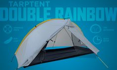 Tarptent Double Rainbow - a mega llightweight and suprisingly spacious backpacking tent.