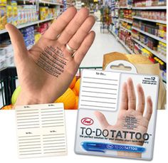 """To-do"" tattoos clever"