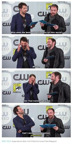 SDCC 2015 Supernatural Q&A with Misha Collins and Mark Sheppard ... LOL || Comic Con 2015