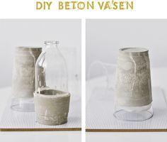 s i n n e n r a u s c h: [Nachmachtipp] Vasen aus Beton