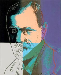 Andy Warhol (1928–1987) - 1980, Ten Portraits of Jews of the Twentieth Century, Sigmund Freud