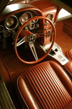 1963 Corvette interior looking stunning from above. Chevy Classic American SportsCar #SplitWindow #Beauty