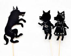 Trois petits cochons : Abrégée Shadow Puppet ensemble
