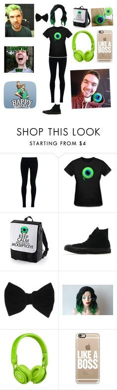 """""""Playing happy wheels with jacksepticeye"""" by jazzywiggles ❤ liked on Polyvore featuring NIKE, Converse, claire's, Beats by Dr. Dre and Casetify"""