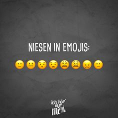 Visual Statements® Sneezing in Emojis Sayings / Quotes / Quotes / Ichhörnurmimi . Funny Cute, Really Funny, Hilarious, Funny Pins, Funny Memes, Jokes, Emoji Quotes, Quotes Quotes, Lol
