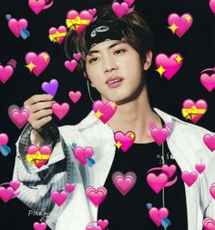 Memes Bts Portugues Jin Ideas For 2019 Bts Jin, Jimin, Bts Meme Faces, Memes Funny Faces, Cartoon Memes, Seokjin, Bts Emoji, Ringa Linga, Taehyung