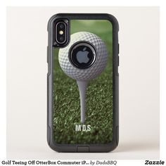 Golf Teeing Off OtterBox Commuter iPhone X Case