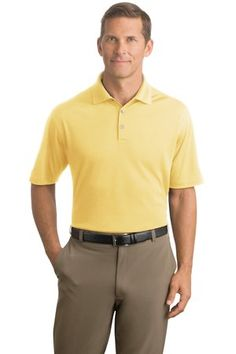 Buy the Nike Golf - Dri-FIT Micro Pique Polo Style 363807 Corn Silk on sale now at SweatshirtStation.com #nikegolf #golfpolo #promotionalclothes