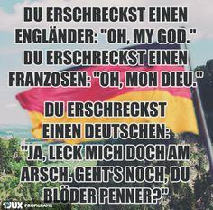 "Österreich: ""Jo Greizkruzizefix nu amoi! Schleich di, oida!"""