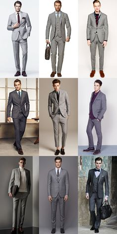 Top 5 Street Style Looks From New York Fashion Week: Look 4: The Classic Grey Suit Lookbook Inspiration