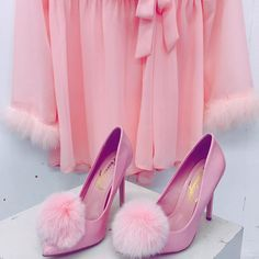 """VDAY outfit #GOALS #fauxfur shoes DollsKill.com/Puff"""