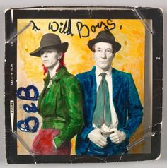 David Bowie & William Burroughs, 1974 •