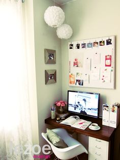 Remember why you went to college: to get a degree. Studying is important, and you can study better with an organized, inspirational workspace. #dorm