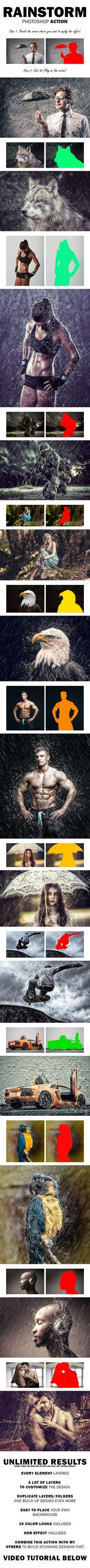 RainStorm Photoshop Action #photoeffect Download: http://graphicriver.net/item/rainstorm-photoshop-action/11018104?ref=ksioks