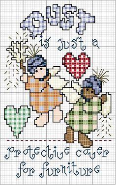 Schema punto croce I Love Antiques 01 Cross Stitch Angels, Cross Stitch Charts, Counted Cross Stitch Patterns, Cross Stitch Designs, Cross Stitch Embroidery, Embroidery Patterns, Hand Embroidery, Cross Stitch Kitchen, Cross Stitching