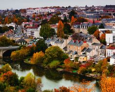 The city of Poitiers is known for its many historic homes and its longstanding status as a center of university learning.