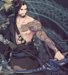 Secret Obsession - Overwatch Fan Art - His Secret Obsession.Earn Commissions On Front And Backend Sales Promoting His Secret Obsession - The Highest Converting Offer In It's Class That is Taking The Women's Market By Storm Overwatch Hanzo, Overwatch Fan Art, Genji And Hanzo, Hanzo Shimada, Overwatch Drawings, Cosplay, Ship Art, Secret Obsession, Manga