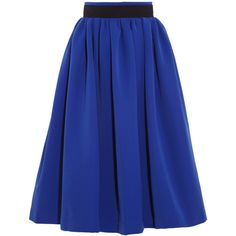 Preen by Thornton Bregazzi Everly stretch-crepe skirt ($1,020) ❤ liked on Polyvore featuring skirts, bottoms, saias, blue, knee length, blue knee length skirt, knee high skirts, knee length slip, preen skirt and blue slip