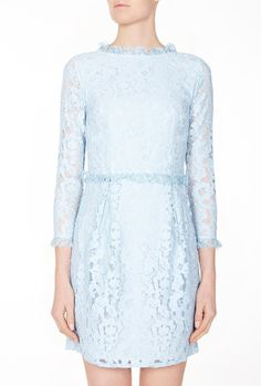 Cornflower Blue Eros Lace Dress by Alice by Temperley