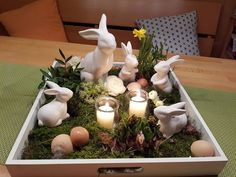 Deko ostern top 27 cute and money saving diy crafts to welcome the easter Spring Home Decor, Spring Crafts, Easter Table Decorations, Easter Centerpiece, Shell Decorations, Diy Decoration, Centerpiece Ideas, Flower Decorations, Diy Crafts To Do