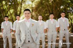 Groom & groomsmen wear your color in their bow ties