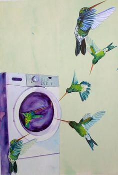 Fly around the Washing Machine by Anna Marrow