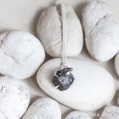 Solo Necklace With Black Onyx | ALOHA GAIA | Jewelry with raw stones and crystals $35