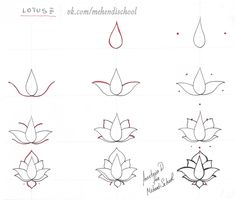 Easy Drawings Easy Drawings How To Apply Henna Mehndi Designs Step by Step Step by step Ideas The post Easy Drawings appeared first on Diy Flowers. Mehndi Designs, Henna Tattoo Designs, Tattoo Henna, Henna Mehndi, Henna Art, Mehendi, Mandala Tattoo, Henna Mandala, Lotus Mandala