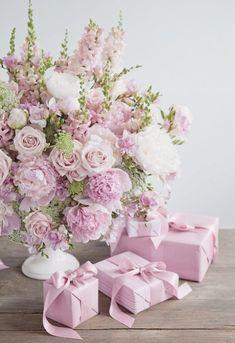New Flowers Gift Bouquet Floral Arrangements Mothers 39 Ideas Amazing Flowers, Pink Flowers, Beautiful Flowers, Pink Lace, Shabby Flowers, Bouquet Flowers, Pink Peonies, Fresh Flowers, Pink Flower Arrangements