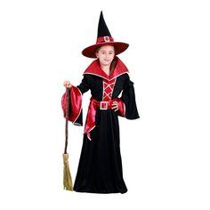 Un disfraz de bruja infantil para una fiesta de Halloween o Terror nunca falla, apuesta segura. Y este nuevo disfraz de bruja que combina tonos negros y granates a la perfección cumple con creces su papel. #disfraces #halloween