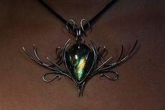 Pandoras Tear Silver pendant with labradorite stone by Calisto Breeze
