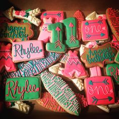 First Birthday Girl Decorated Sugar Cookies