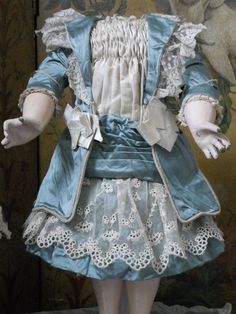 ~~~ Marvelous French BeBe Silk Costume with Bonnet ~~~ from whendreamscometrue on Ruby Lane