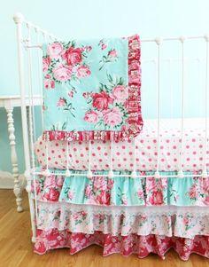 Nursery bedding from Lottiedababy.com - Shabby Chic Roses