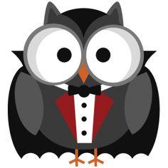 Halloween Vampire Owl SVG