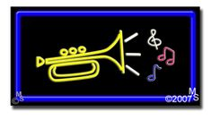 """Music Logo Neon Sign - 20"""" x 37""""-ANS1500-5838-R  37"""" Wide x 20"""" Tall x 3"""" Deep  Flashing Border """"ON/OFF"""" switch  Sign is mounted on an unbreakable black or clear Lexan backing  Top and bottom protective sides  110 volt U.L. listed transformer fits into a standard outlet  Hanging hardware & chain included  6' Power cord with standard transformer  For indoor use only  1 Year Warranty on electrical components."""