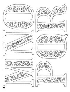 Classic Fretwork Scroll Saw Patterns (Sterling… Kirigami, Laser Art, Alphabet And Numbers, Alphabet Letters, Scroll Saw Patterns, Illuminated Letters, Monogram Letters, Paper Cutting, Embroidery Patterns