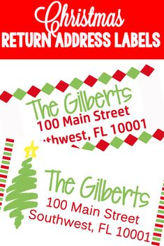 Cute and FREE Christmas return address labels! Just grab the jpeg and copy onto your address label sheet!