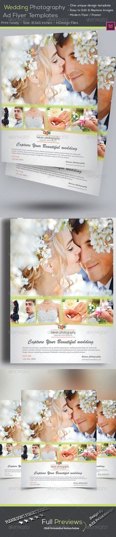 Wedding Photography Flyer Photography flyer, Flyer template and - wedding flyer