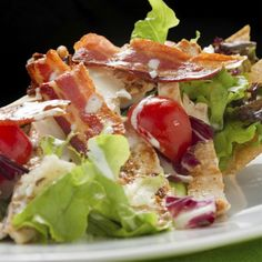 Light Club Salad Recipe with Turkey, Bacon, Lettuce, and Tomato - Quick Lunch Recipes to Take to Work - Shape Magazine