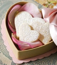 Hearts: #Heart cookies in a heart box.