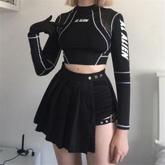 Perfect outfit idea to copy ♥ For more inspiration join our group Amazing Things ♥ You might also like these related products: - Tops & Tees ->. Kpop Fashion Outfits, Stage Outfits, Edgy Outfits, Korean Outfits, Grunge Outfits, Grunge Fashion, Look Fashion, Korean Fashion, Girl Outfits