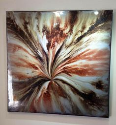 Beautiful brown tones encapsulated within resin, one of my favourites! Resin and mixed media 90x90cm. http://www.facebook.com/resinartgallery