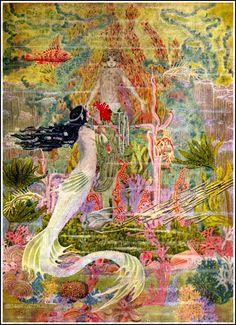 Superlative Little MERMAID  Art Deco Fairy Tale. VINTAGE  Illustration.  DIGITAL Download. Dugald Stewart Walker