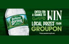 You can text each of the key words [water brand name] to 35350 & you'll be sent a link to