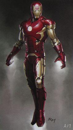 Iron Man 3 concept by Ryan Meinerding Marvel Comic Universe, Marvel Comics Art, Iron Man Avengers, Marvel Avengers, Stylish Glasses For Men, Cool Costumes, Amazing Costumes, Armor Concept, Concept Art